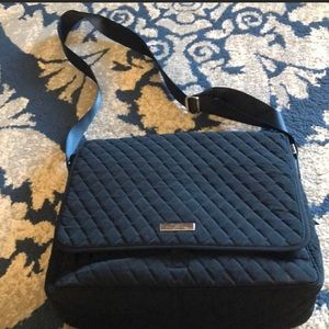 Vera Bradley black quilted laptop bag